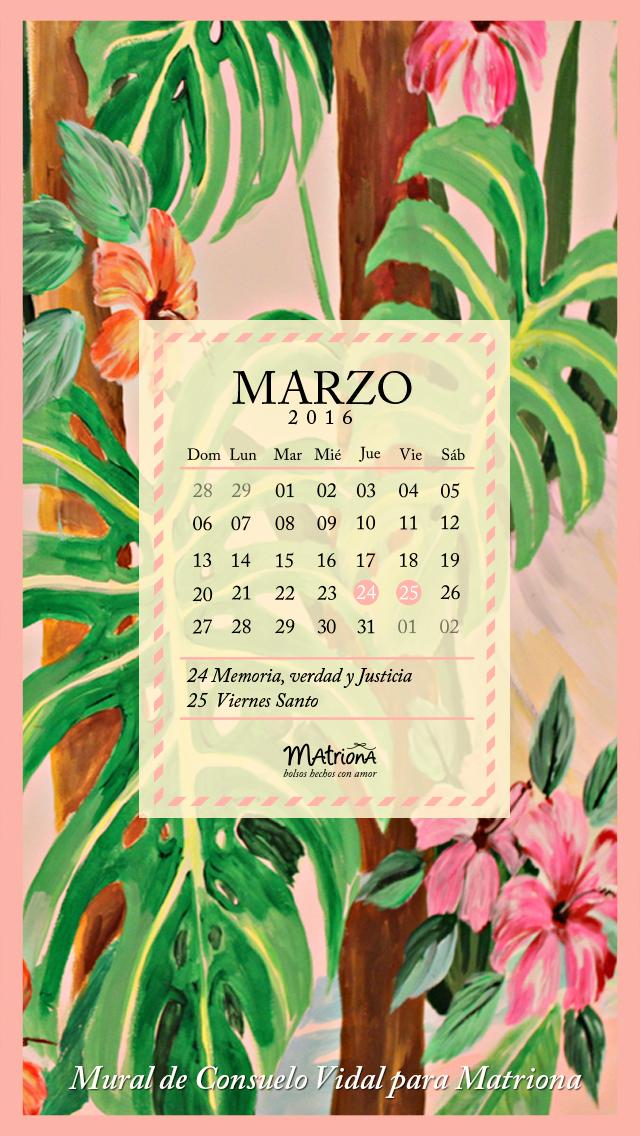 Calendario Marzo 2016 - Celu