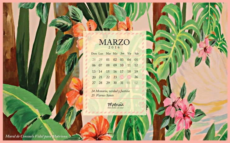 Calendario Marzo 2016 - PC