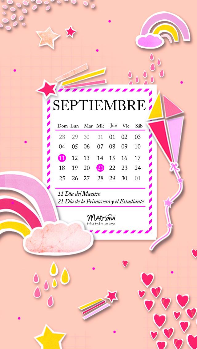 Calendario para Celu 09.2016